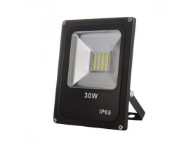 Refletor Led 30w Slim Smd Ip66 6500k Bivolt
