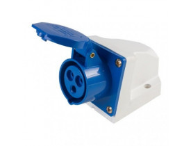 TOMADA INDUSTRIAL SOBREPOR 2P+T 32A 220V AZUL STECK/FOXLUX